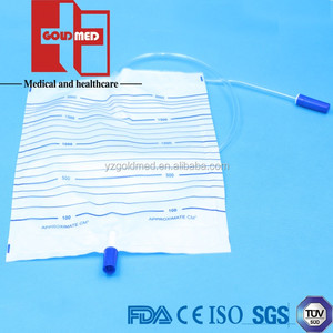Medical Adult Disposable Urine Collection Bag with T-Valve(GUB026-1)