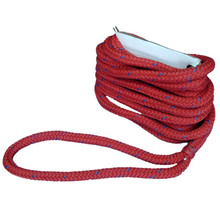 "Nylon double braid Dock Line and Mooring Rope 1/2"" x 25' Red"