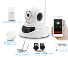 Most advanced!!! APP control Video security Host, wireless home security alarm camera system