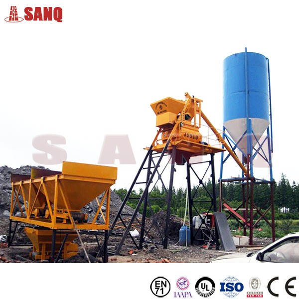 HZS25 25m3/h small concrete batching mixing plant