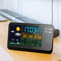 wholesales LCD clock recordable alarm clock with temperature and humidity