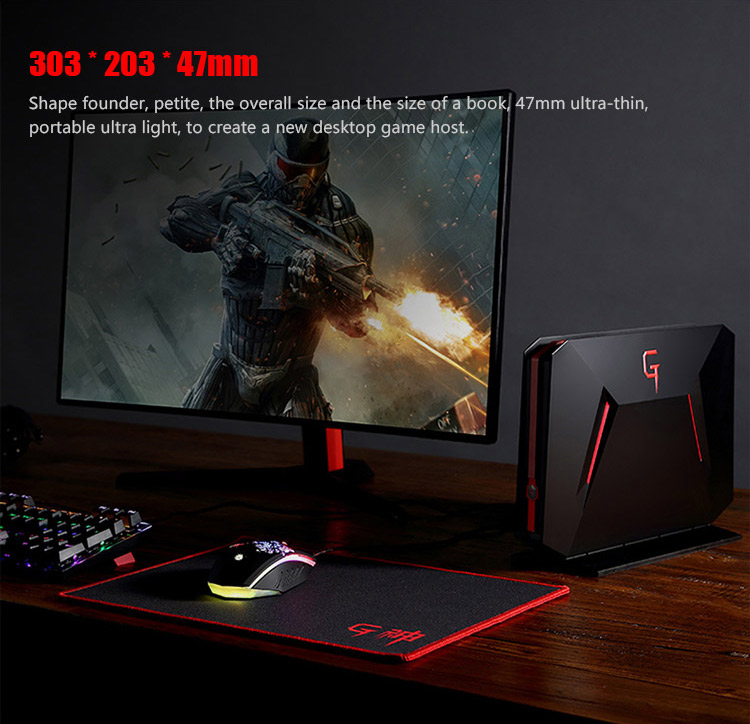 Hot selling Intel i7-7700HQ 8GB RAM 128gb SSD 1TB HDD mini gaming desktop pc with GTX-1060