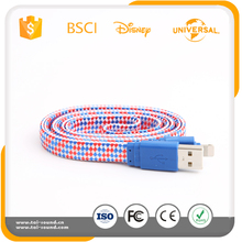 Free sample colorful braided usb cable usb data cable cheap promotional gifts