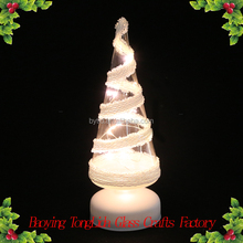 Hand blown led light glass christmas tree wholesale