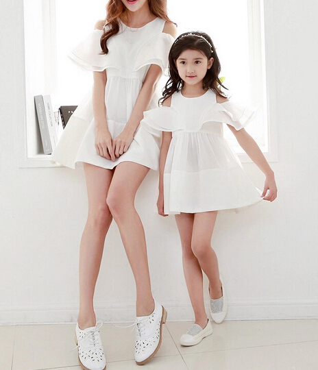 new design mother daughter matching dress family set clothes