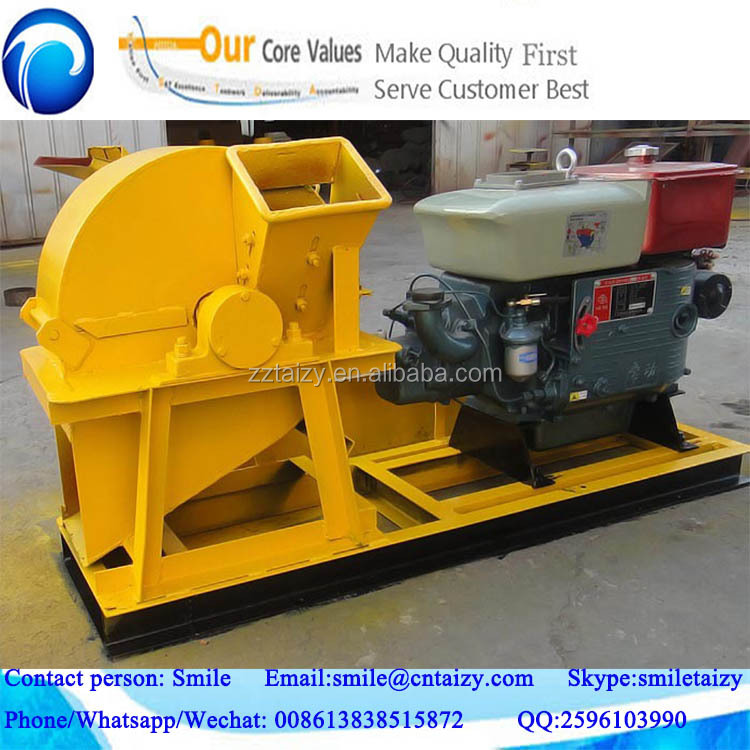 diesel or motor or tractor engine wood crusher with or without cyclone