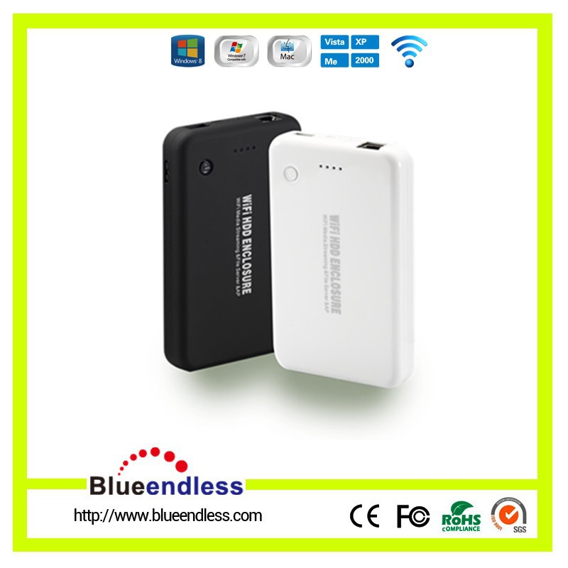 "Blueendless Mobile phone standby charger 2.5""USB 3.0 WIFI Hard Disk Case"