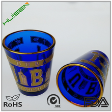 Custom printed beer cup lead free souvenir shot glass 50ml reusable glass coffee cup