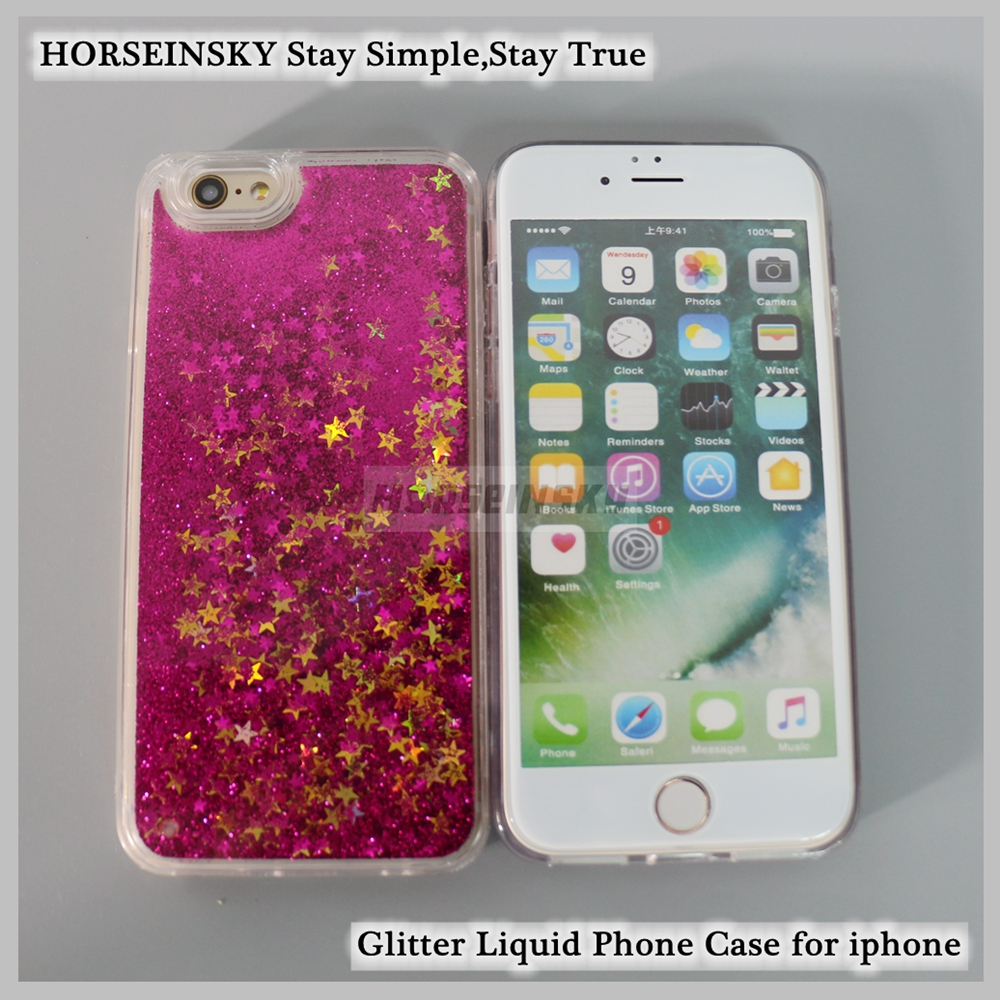 Bling Phone Case for iPhone Liquid Quicksand Shining Glitter Phone Cover
