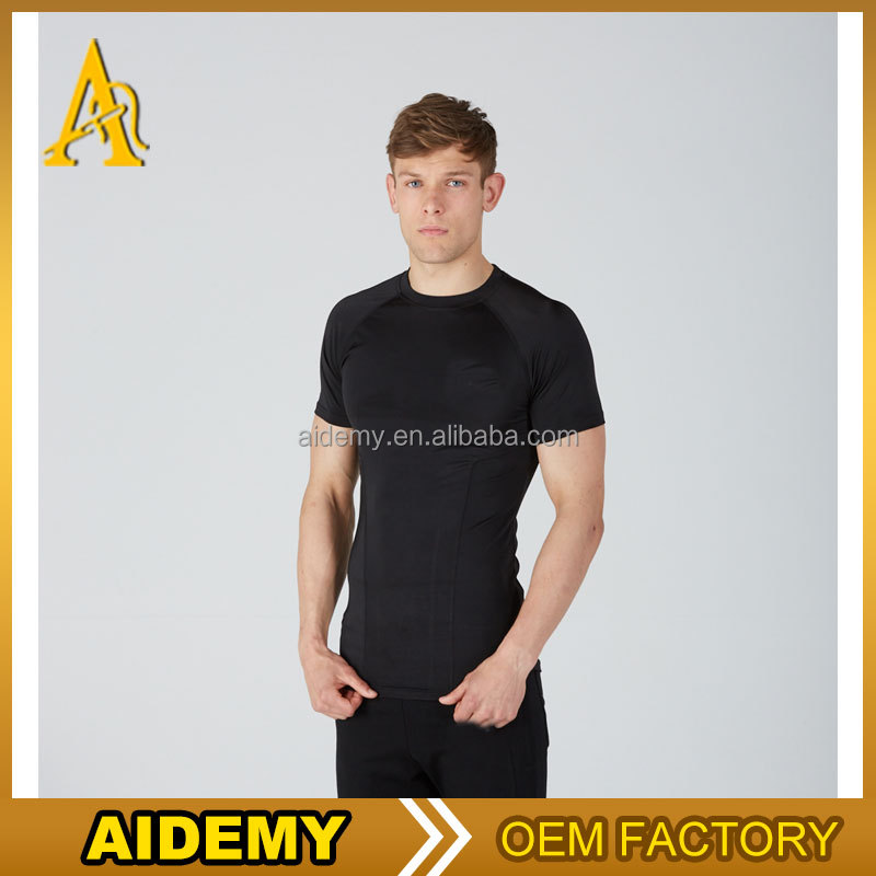 100% Polyester Quick Dry Moisture Performance slim Fit Men's Athletic All Sport Training T Shirt Blank