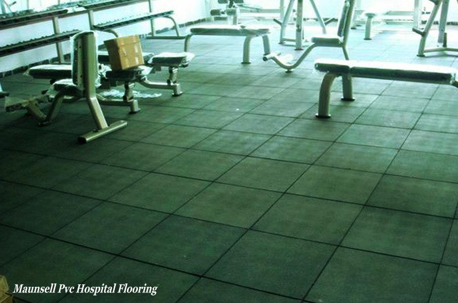 Piastrella in gomma palestra fitness and roll pavimento per