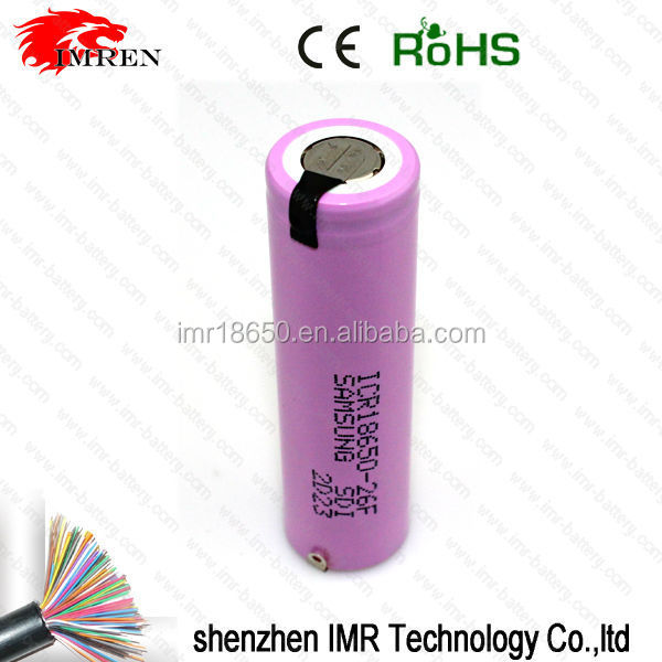 (cheaper price)18650 rechargeable 3.7V ICR18650-26F/FM 2600mah battery icr18650 battery pk icr18650-26c battery