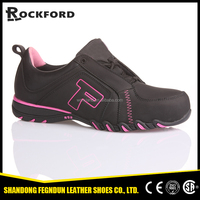 New style pink and black safety shoes with steel toe and kevlar sole FD3211