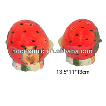 Strawberry red easy clean ceramic hamster cage,pet cage,ceramic hamster house