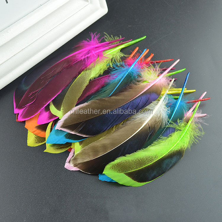Cheap sale 10-15cm beautiful Dyed duck feathers