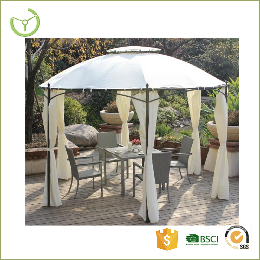 XY-CG-16005 Dome roof shaped gazebo tent with side walls for patio