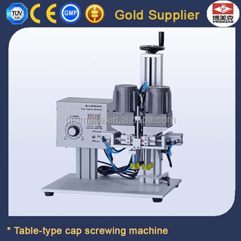 Manual PET Bottle Capper Round Head Cap Screw Sealing Machine