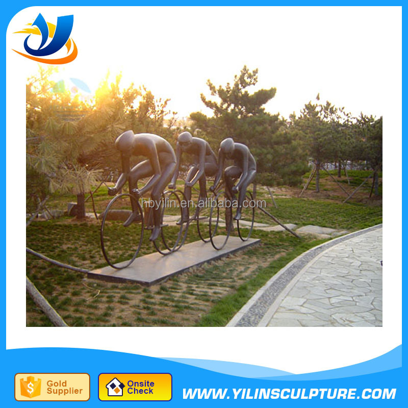 Garden decoration bicycle sculpture made in China