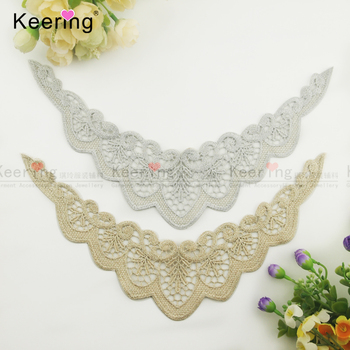 metallic yarn lurex flitter lace motif angel wings for baby WLSA-099