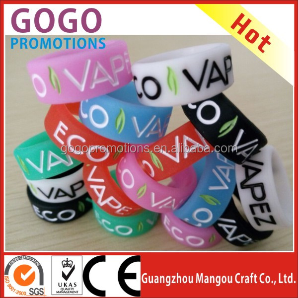 Germany,UK,France hottest sale decorative and protection OEM design your logo or words silicone vape bands vapor band O rings