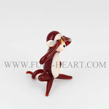 2015 murano glass monkey figurines home decoration hot sale in Pier1 export to all over the world