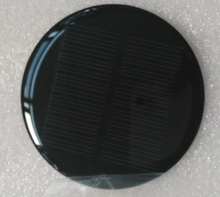 epoxy laminated solar cell 7v solar panel 0.42w 80mm dia round shape