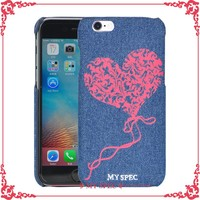 For leather iphone case jean cell phone cover case with printing