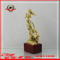 2016 wholesale customized fairy maiden metal trophy