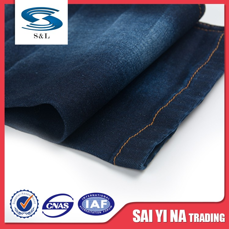 98 cotton 2 spandex fire retardant cotton colour twill denim fabric