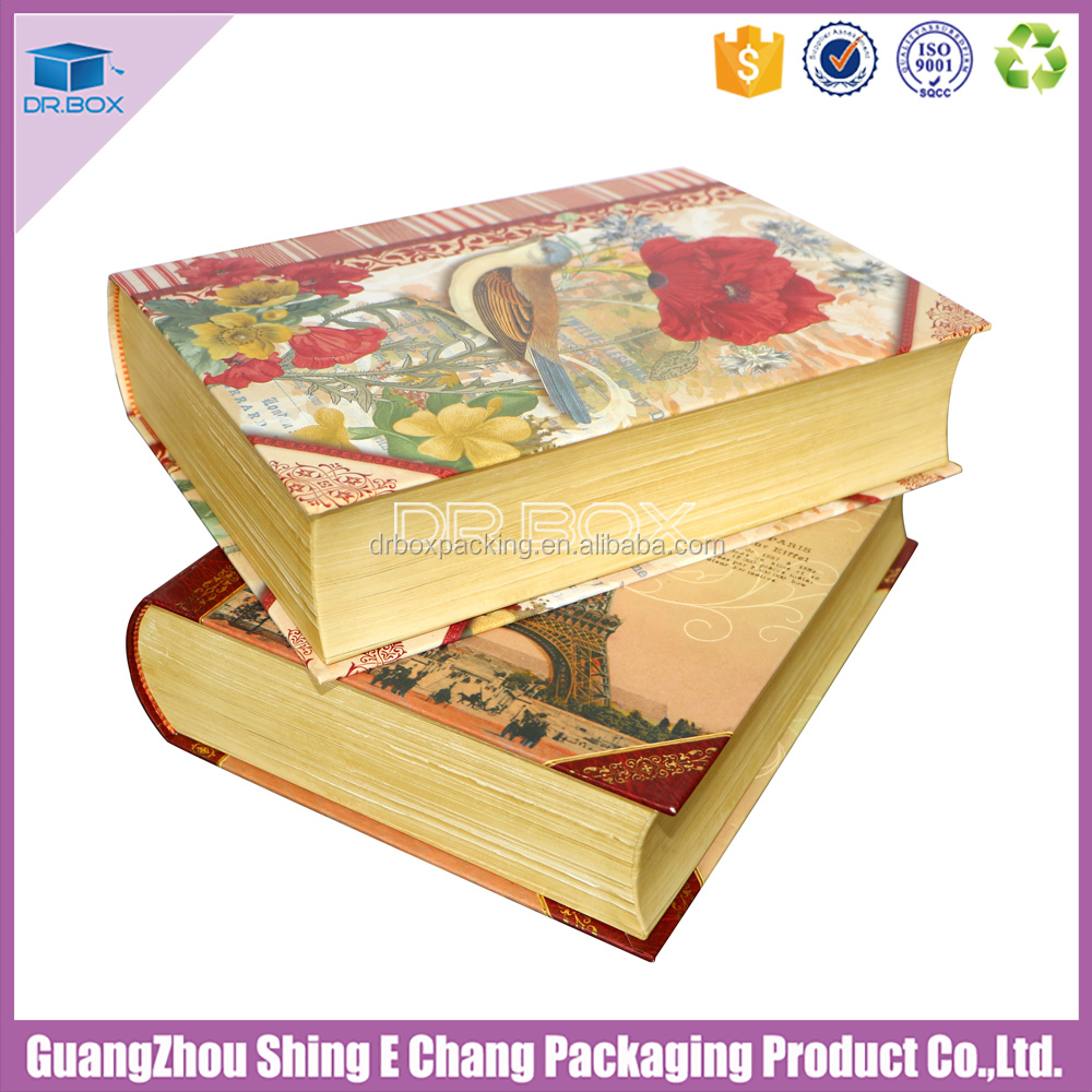 Book shaped christmas cardboard storage box for Christmas gift box