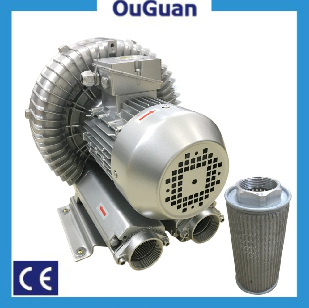Ouguan 4kw 330mbar Fish Pond Aeration Blower