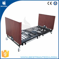BT-AE032 Folding ultra-low 5-function electric china home nursing elderly hospital bed
