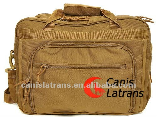 Khaki fashion 1000-Denier water and abrasion resistant light-weight ballistic nylon fabric bags CL5-0008