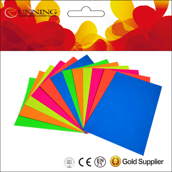 Brightly Fluorescent Color Paper Glow paper