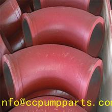 constriuction building construction equipments cast manganese trailer parts stationary concrete pump elbow/bend