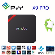 the neewest design Pendoo x9 pro android 6.0 amlogic s912 google smart tv box full hd 1080p with kodi 17.0 BT 4.0