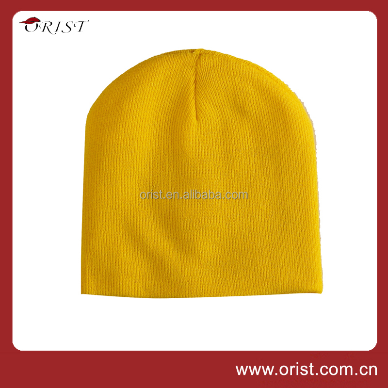 Fashion style Pure color Beanie hat and cap for Sales promotion