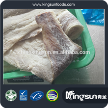 GOOD QUALITY 2017 NEW ARRIVAL IQF DRIED SALTED 49-52 % MOISTURE THERAGRA CHALCOGRAMMA POLLOCK FILLET FOR BRAZIL/EU MARKET