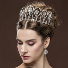 New arrival Baroque Crown Pearl Wedding Hair Accessories Tiaras And Crowns Bridal Head Jewelry Mariage
