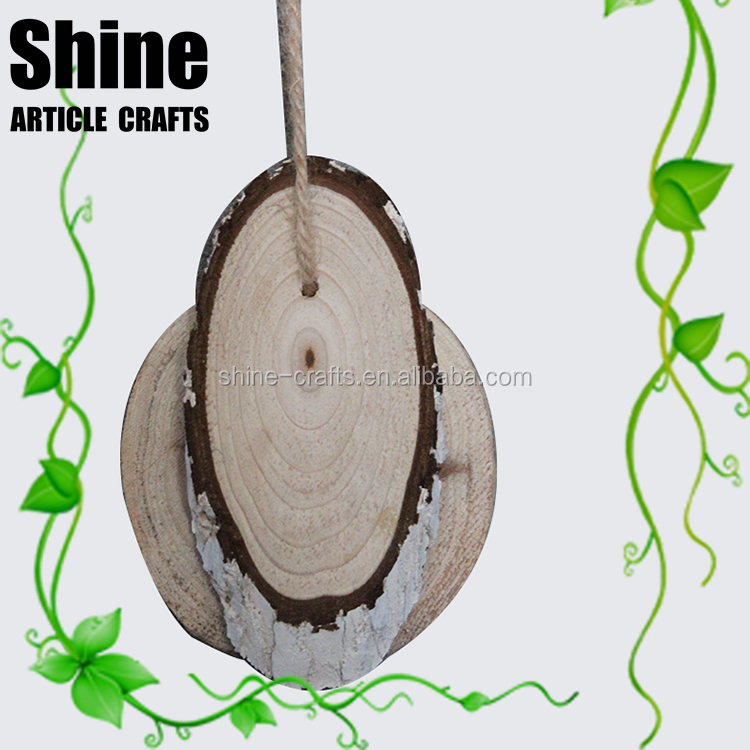 Wholesales hand made unfinished round wood pieces craft wood slice