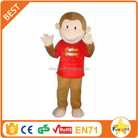 Funtoys CE Red Curious George Monkey Mascot Costume