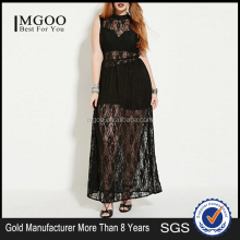 Clothing Thailand Brands Black Lace Spanish Dress Plus Size Maxi Dress Wholesale 2016 Dress
