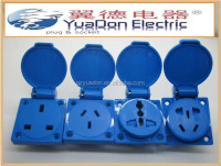 Different country type Electric waterproof socket IP44 (YD-53)