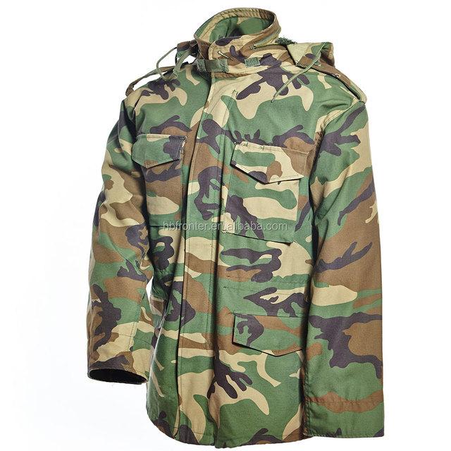Wholesale Classic Woodland Camo Camouflage Windproof Military Uniform Anorak M65 Winter Jacket