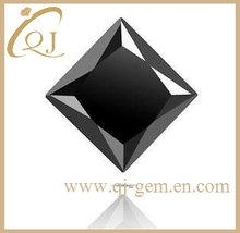 Best selling black cubic zirconia square synthetic gemstone