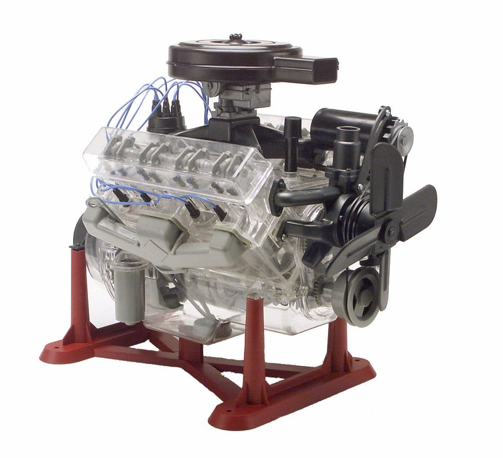 Micro Engine Revell 85-8883 1/4 Visible V-8 Engine Plastic Model Kit, 12-Inch