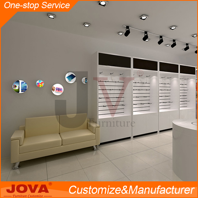 Retail custom made 3D design mobile phone store furniture shop decoration interior design