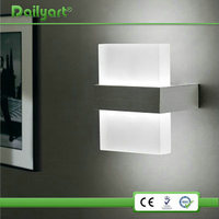 Plastic CE RoHs half moon glass wall light for wholesales