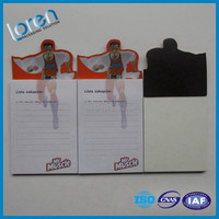 Advertising Custom fridge magnet note pad with pen holder,magnet sticky notes