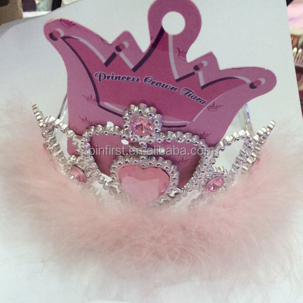 2015 Fashion wholesale promotional kids plastic Tiaras and crowns